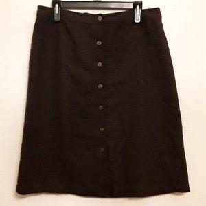 Christopher & Banks a-line skirt, brown